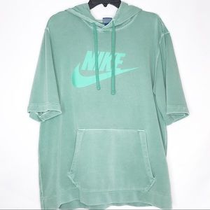 Nike Heathered Green Short Sleeve Sweatshirt XL